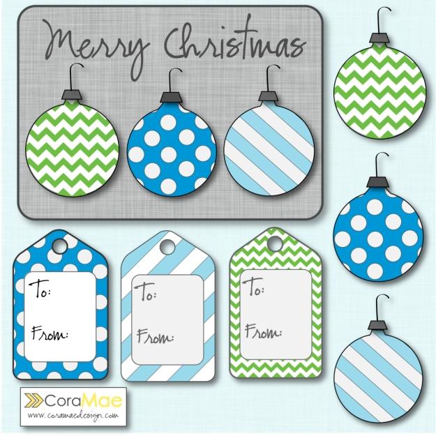 free christmas clipart kit gift tags christmas card printable and