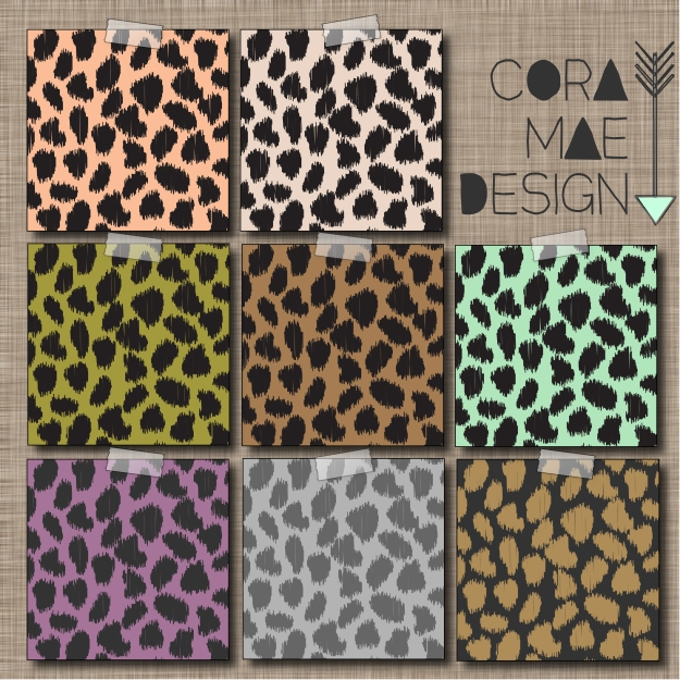 free leopard print digital papers, iPhone wallpapers, & Facebook cover photos