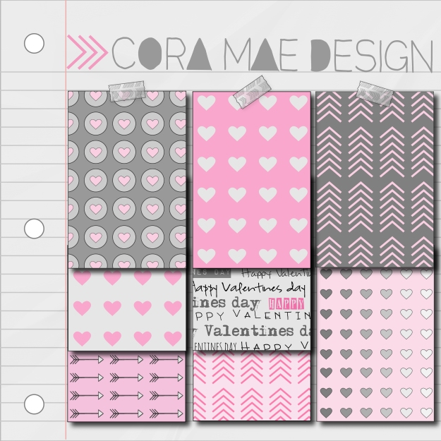 FREE VALENTINE'S DIGITAL PAPERS & IPHONE WALLPAPER