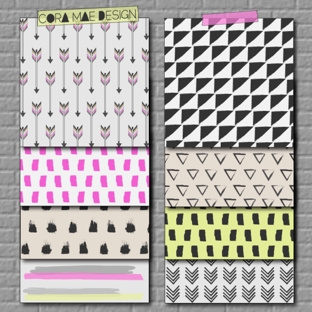 free chevron paint print downloads